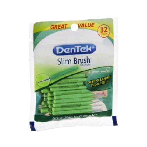 Dentek Slim Brush Ultra Thin Soft Brush Cleaners – 32 CT