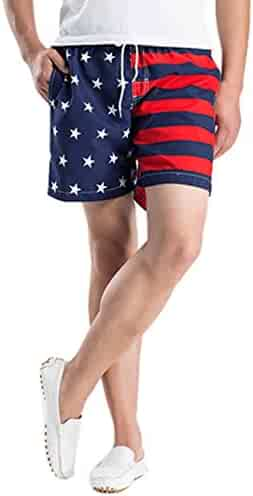 80cc623d57f GREFER Mens Beach Shorts Quick Dry Swimming Pants for Men Big and Tall Swim  Trunks