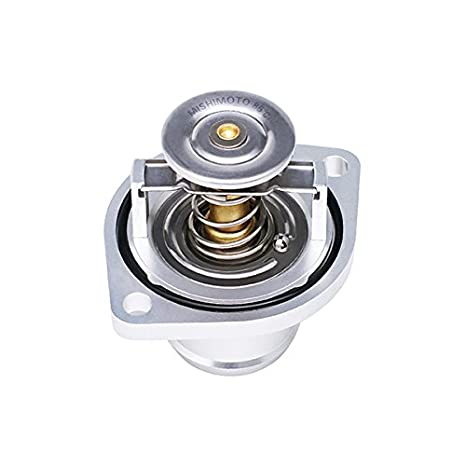 Mishimoto MMTS-F2D-03FH Silver High-Temperature Thermostat//CNC Housing for Ford 6.0L Powerstroke Engine