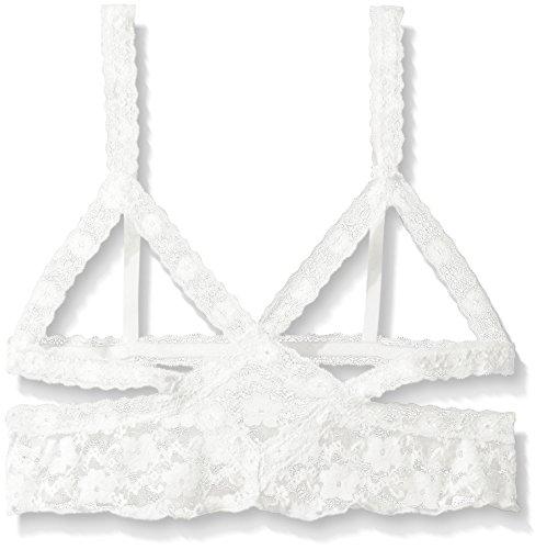 Honeydew Intimates Women's Mia Lace Camilette, White/Silver Foil Trim Medium ()
