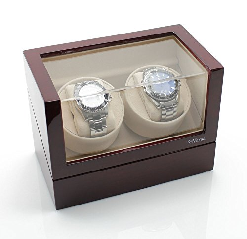 Versa Elite Double Watch Winder in Cherrywood (Winder Watch Dual Versa)