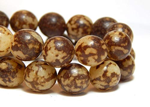 10 Buri Nut Round Beads Natural Seeds Earthy Nature 9-11 mm