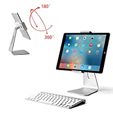 Viozon ipad Pro Stand, Tablet Stand 360° Rotatable Aluminum Alloy Desktop Mount Stand for Ipad Pro Ipad Air Ipad Mini Surface and Surface Pro