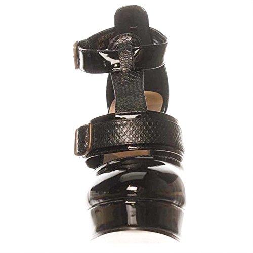 NOTFOUND Leila Stone Wenny Platform Pump Heels - Black Black 6w81qYFYqt