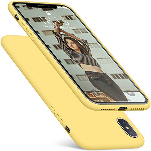 DTTO Case for iPhone Xs Max, [Romance Series] Silicone Case with Hybrid Protection for Apple iPhone Xs Max 6.5 Inch (2018 Released) - Duckling Yellow