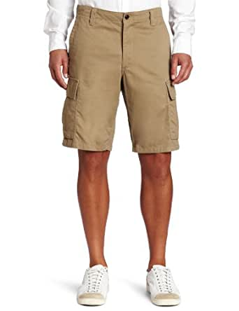 Dockers Men's Cargo Flat-Front Short, New British Khaki, 30W