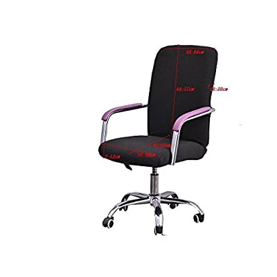 Iseedy Chair Cover Office Computer Chair Sets of Stretchable Rotating Chair Cover. (Black): Home & Kitchen