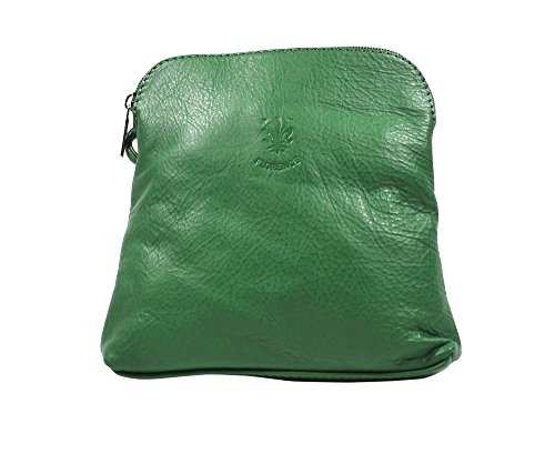 Navy Leather Handbag Green Soft Shoulder Italian Real Cross Body Bag ZqSfwA