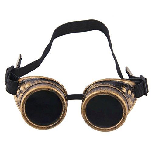 Steampunk de Mignon Soleil Classique Pilote Style de Gothique Bronze Coupe A02 vent Soleil Lunettes LKXHarleya Vintage Gros Lunettes qxZRXt6tzw