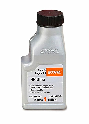 (STIHL HP ULTRA 2 cycle engine Synthetic Oil (1 Bottle 2.6 oz Bottle makes 1 gallon))