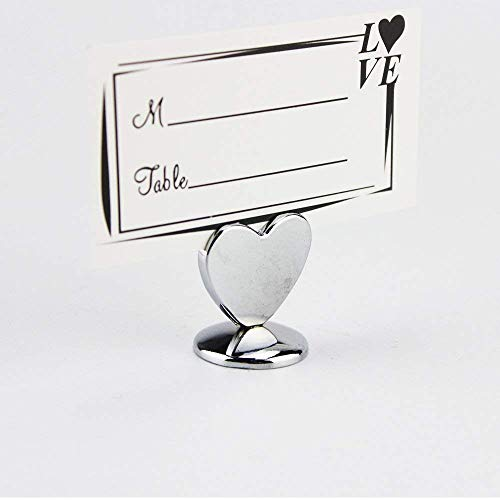 (AHAPPY 10Pcs Love Heart Table Place Card Number Holders,Party Favors, Wedding Decorations)