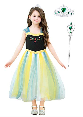 Halloween Costumes For Party (Little Girl Princess Anna Halloween Costume Christmas Birthday Party Tulle Sleeveless)