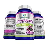 Bags Under Eyes Heart Disease Supreme Potential 100% Pure Resveratrol Extract for Anti-Aging & Heart Health - 1500mg Maximum Strength - 180 Capsules - 60 Day Supply - Manufactured in USA.