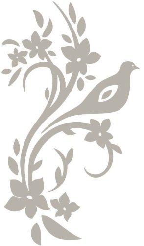 Flower Bird Etch Effect Frosted Vinyl Window Sticker Amazonco - Window stickers amazon uk