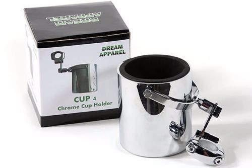 - Motorcycle Cup Holder Chrome Handlebar Drink Bottle Holder for Harley Universals (CHROME)