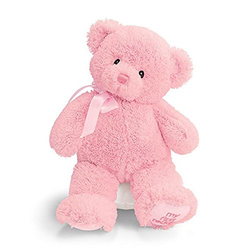 Enesco 21028 My First Teddy Petit Ours Rose Polyester 25,5 cm