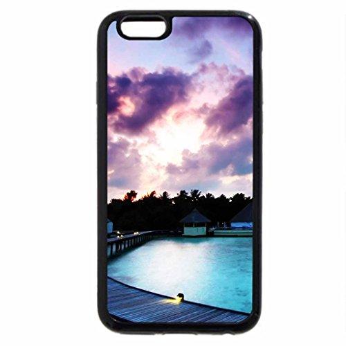 iPhone 6S / iPhone 6 Case (Black) maldivian resort sunrise