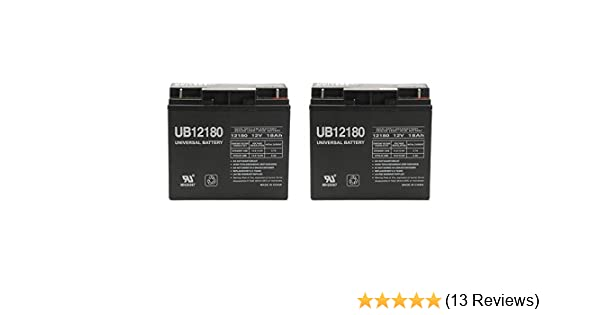 Casil 12v 18ah AGM Sealed Lead Acid Battery with Nuts and Bolts by Inovel Power