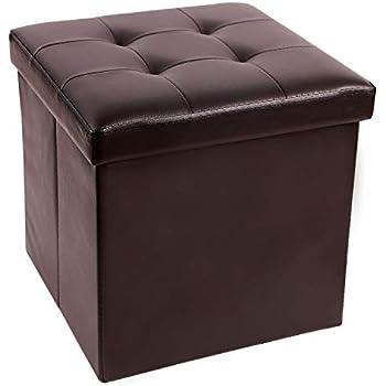 Amazon Com Redcamp 15 Quot 55l Faux Leather Storage Ottoman
