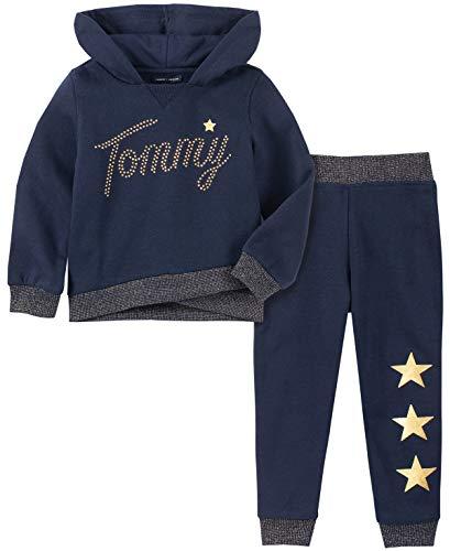 Tommy Hilfiger Girls' Little 2 Pieces Jog Set, Peacoat, 6 (Hilfiger Kids)