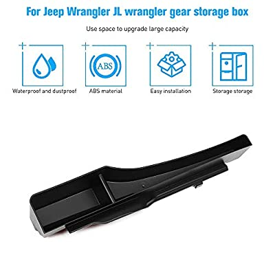 for JL Storage Tray, Gear Shift Storage Box Organizer, Center Console Tray Side Storage Pockets Bins Compartments for 2020-2020 Jeep Wrangler JL JLU & 2020 Jeep Gladiator JT with Auto Transmission: Automotive