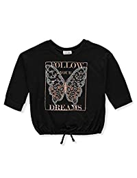 Beautees Girls' Butterfly Dreams L/S Top