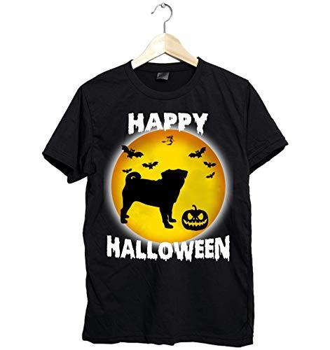 Amazing Happy Halloween Pug shirt - Funny Gift for Pug Lovers this Halloween- Unisex Style Size Up to 6XL - Fast Shipping ()