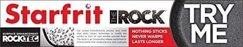Starfrit The Rock 034707-001-0000 Batterie de cuisine 10 pièces Aluminium Noir