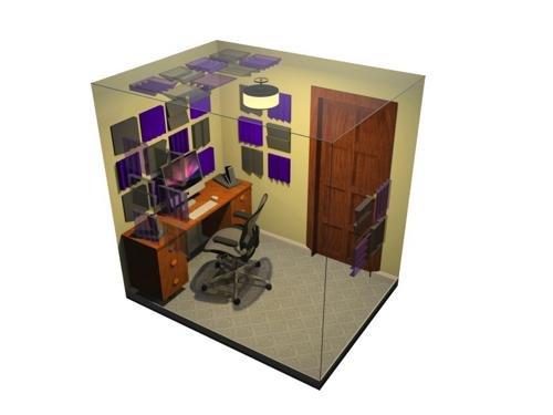 Auralex Acoustics D36-DST Roominator Acoustic Absorption Treatment Room Kit, Charcoal/Burgundy