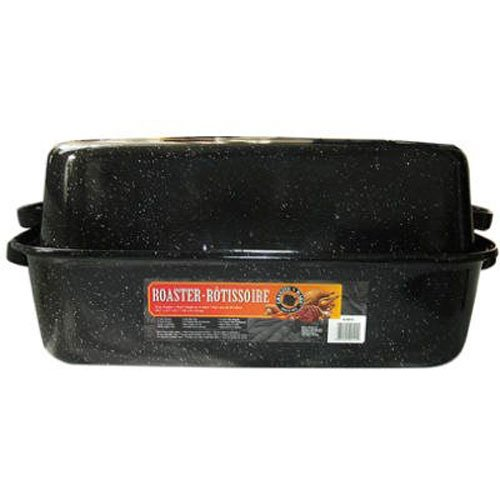 Enamel Roaster Pan (Granite Ware Covered Rectangular Roaster, 19.5 x 12.88 x 7 Inches)