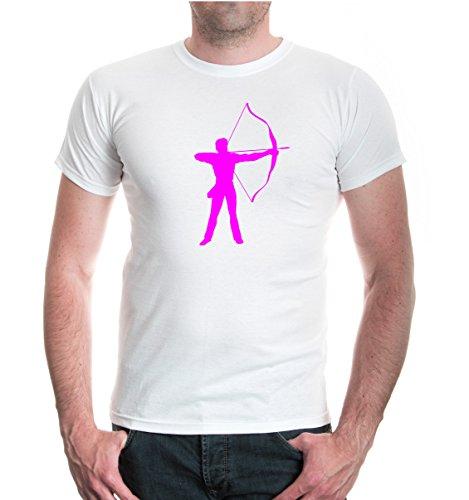 T-Shirt Archery-S-white-neonpink
