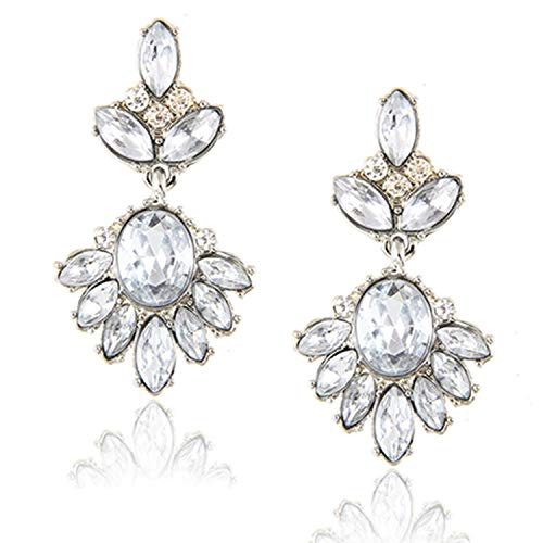 Vintage Crystal Earrings Fashion Statement Stud Earrings for Women Fashion Earrings Jewelry ()