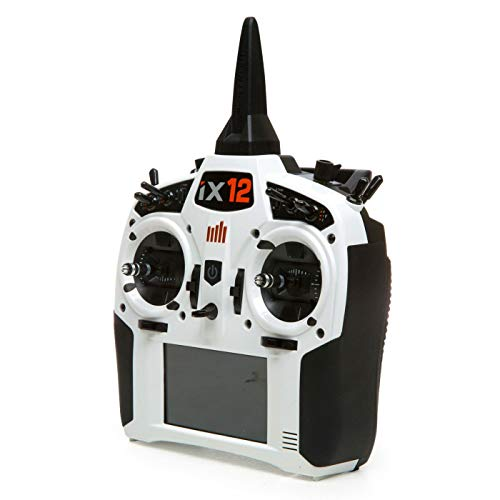 Spektrum iX12 12-Channel 2.4Ghz Telemetry DSMX RC Tx (Transmitter Only) | 250 Model Memory | Touchscreen | WiFi & Bluetooth Compatible | White