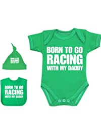 BabyPrem Baby Born to Go Racing with My Daddy Bodysuit Set 0-12 mth