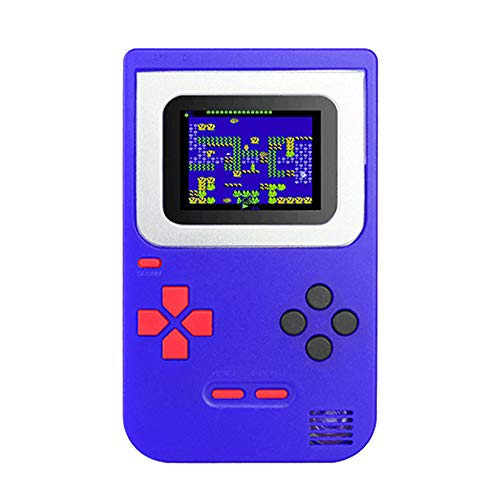 Vovomay_Christmas Handheld Game Console for Kids with Built in 268 Classic Old Games Portable Gaming Player Arcade System Birthday Gift for Children Boys (Blue)