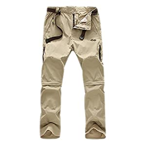 Geval Men's Windproof Quick Drying Outdoor Pants(Khaki,L)