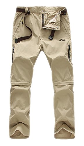 Geval Men's Windproof Quick Drying Outdoor Pants(Khaki,M)