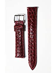 18mm Limited Edition Burgundy Genuine Crocodile with Quick-Release Pins for Michele Style