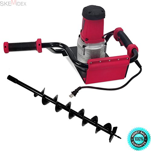 SKEMIDEX---1.6 HP Electric Post Hole Digger 1200w Watt Motor w/ 4'' Inch Auger Drill Bit New And post hole digger rental post hole digger tractor supply post hole digger walmart post hole digger by SKEMIDEX