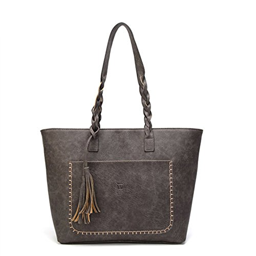 Tassel Lady Shoulder Retro Elegant PU Female Handbag Daily Shopping Causal Women Totes Vintage Bag SRv4qWF