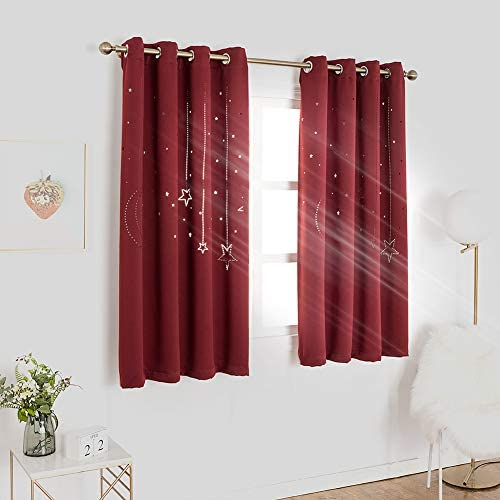 Window Treatments Pink 52x84in Mangata Casa Kids Star Blackout Curtains Grommet Thermal 2 Panels For Bed Room Cutout Galaxy Window Curtain Darkening Drapes For Nursery Living Room Kids Room Decor Kids Room Decor