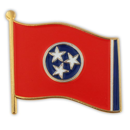 PinMart Tennessee US State Flag TN Enamel Lapel Pin - Tennessee Pin Lapel