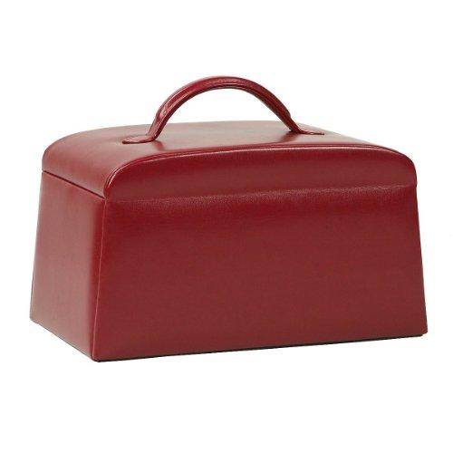 Windrose Merino Schmuckkoffer mit 6 Seitenschubladen 0 rot - 2