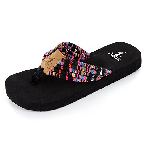 Corkys Mujeres Shoe String Black Multi 11 M