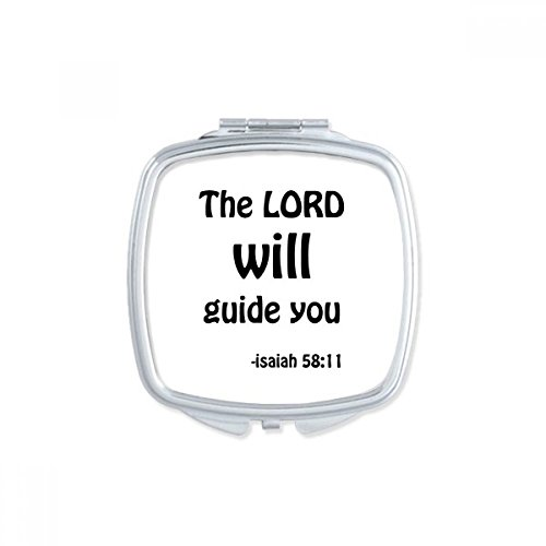 DIYthinker The LORD Will Guide You Christian Square Compact Makeup Mirror Portable Cute Hand Pocket Mirrors Gift by DIYthinker