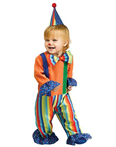 [Li'l Clown Infant Costume (Small-6/12MOS)] (Boy Clown Costumes)