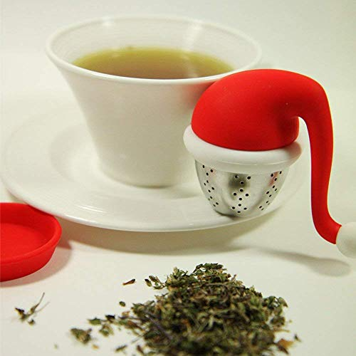 Christmas Santa Claus Hat Tea Infuser Stainless Steel Strainers