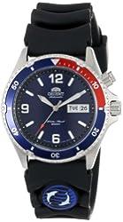 Orient Men's CEM65003D Blue and Red Bezel Automatic Rubber Strap Dive Watch