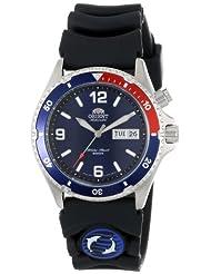 Orient Mens CEM65003D Blue and Red Bezel Automatic Rubber Strap Dive Watch