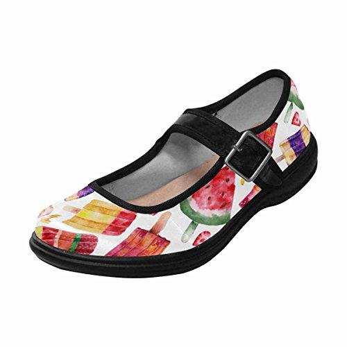 11 Jane Shoes InterestPrint Casual Multi Walking Comfort Mary Womens Flats xqxztnHZAg